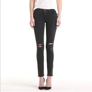 Rag and Bone Black Distressed Skinny Jeans